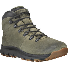 Timberland World Hiker Mid Shoes Men Dark Green Suede